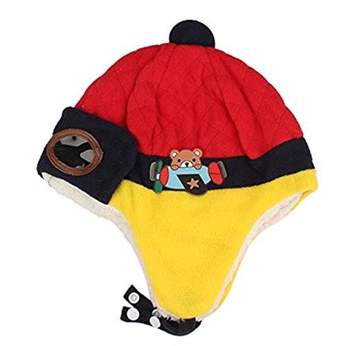 Jungen Winter Warme Mütze Hut Mütze Häkeln Ohrklappen Hüte Rot Neugeborene...