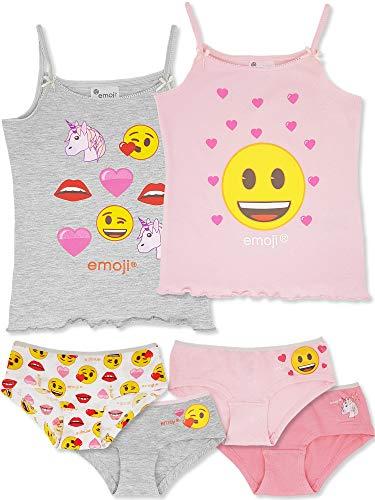 Emoji - 6-TLG. Mädchen Unterwäsche-Set (122/128 (Herstellergröße 6-7 Jahre))