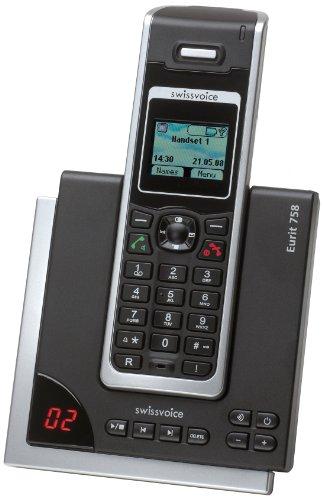 Swissvoice Avena 758 draadloze analoge telefoon (DECT) met digitaal antwoordapparaat in fulleco-modus, 758 - basisstation