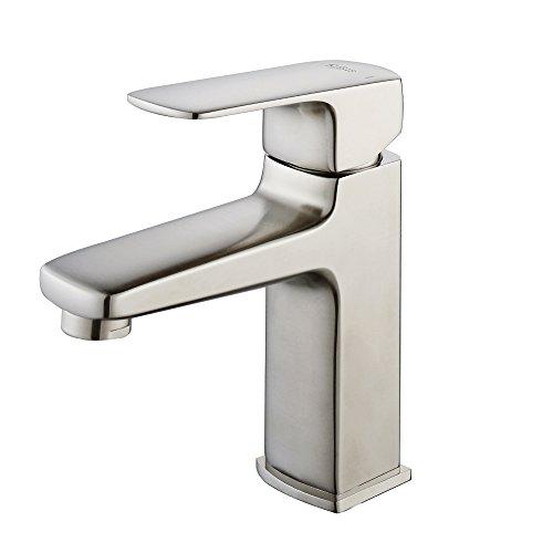 Kraus KEF-15501BN Virtus Single Lever Basin Bathroom Faucet Brushed Nickel