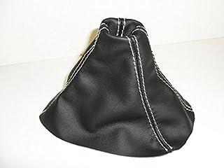 Opel Agila A cuffia leva cambio vera pelle nera cuciture grigie