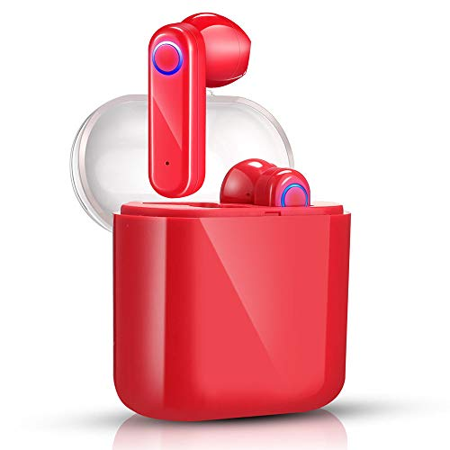 yobola Bluetooth Kopfhörer, Bluetooth 5.0 Kopfhörer 56H Playtime 3D Stereo HD In Ear Wireless Headset mit Mikrofon, Australien, Auto Pairing, kabellose Kopfhörer mit tragbarer Ladehülle