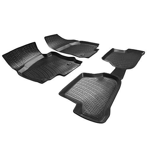 RE&AR Tuning Alfombrillas de coche para Volkswagen Golf V 2003 – 2008, alfombrillas de goma inodoras, color negro, 4D, protección contra suciedad, barro, impermeables, específicas para vehículos