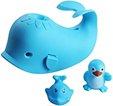 Bath Spout Cover, Faucet Cover Baby Bathroom Tub Faucet Cover Protector for Kids, Bathtub Spout Cover for Baby Kids Toddlers Protection Accessories Baby Safety Universal Bath Silicone Toys Whale Blue