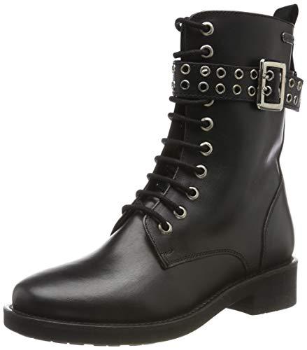 Pepe Jeans London Damen Maddox BASS Biker Boots, Schwarz (Black 999), 38 EU