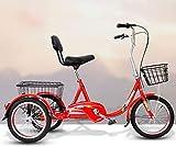 XHPC Bicicleta Vintage, Bicicleta Vieja, Triciclo Conveniente para Ancianos, Bicicleta eléctrica, Compras y Ocio, versión Alta
