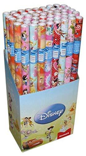 Neu 5 x Original Lizenz Geschenkpapier Kinder Geschenkpapier Cars, Star Wars, Mickey Mouse, Dory, usw.