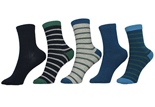 Melton Kindersocken 5er Pack Jungen Strümpfe Socken (880006/135) light grey melange Gr. 17/19