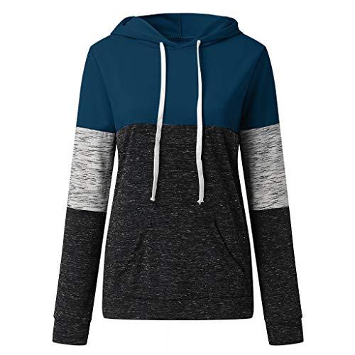 Yvelands Damen Sweatshirt Beiläufige Hoodies Tasche Damen mit Kapuze Blusen Pullover Mantel