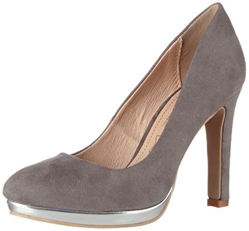 Buffalo Shoes Damen H748-1 S0015H IMI Suede Pumps, Grau (GREY333), 39 EU