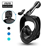 Aegend Full Face Snorkel Mask with Upgraded Safety Breathing System, 180°Panoramic Larger View...