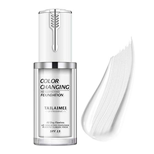 tailaimei Fondotinta liquido cambia colore, cambia colore impeccabile Tonalità della pelle profonda Trucco viso Fondotinta liquido Base trucco Nudo viso idratante 40 ml