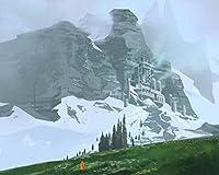 番号による絵画Diyビッグサイズの放浪者の岩斜面の雪キャンバス部屋の装飾アート画像子供ギフト番号によるペイント大人のためのキットカラー原稿 カスタマイズ可能 40x50cmフレームなし