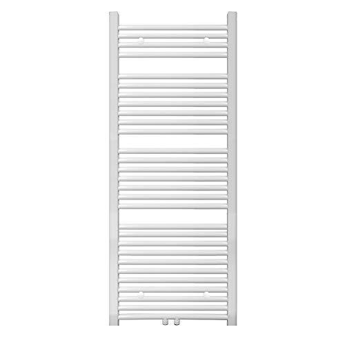 S SIENOC radiador de baño 600 x 1500 mm Blanco conexión Central radiador Calentador de Toallas secador de Toallas