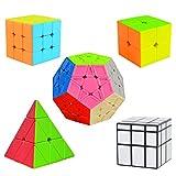 Cooja Cubos de Velocidad, 5 Piezas Speed Cube Set 2x2 + 3x3 + Pyraminx...