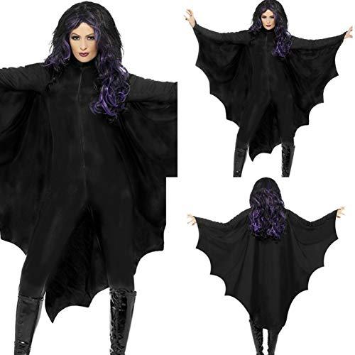 GBYAY Disfraz de Fantasma de murciélago de Terror Disfraz de Fiesta de Disfraces de Halloween Negro Disfraz de Escenario XL Ropa de Halloween para Mujer