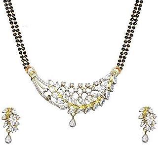 Fashion Jewelry, American Diamond Stone Mangalsutra Set