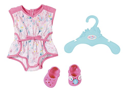 Zapf Creation 824634 BABY born Pyjama mit Clogs Puppenkleidung 43 cm