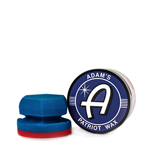 Adam's Patriot Wax - Hand Blended with The Finest Paste Wax Ingredients - Unbeatable Show Car Shine and Classic Vehicle Protection (6 oz Jar)