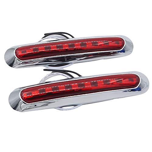 tellaLuna 2 unids 9 LED impermeable coche camión camión marcador lateral luz trasera luces indicador marcador remolque luces 12 V/24 V rojo
