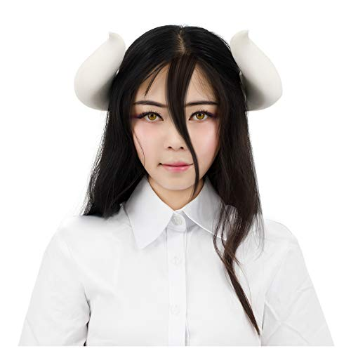C-ZOFEK White Cosplay Horns with Clips for Bowsette Cosplay Costume Overlord Albedo Halloween Accessory (Horns)