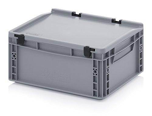 Eurobehälter-Eurobox 40 x 30 x 18,5 cm mit Scharnierdeckel inkl. gratis Zollstock
