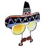 Costume Sunglasses Sombrero Sun-Staches Party...