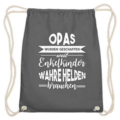 """Bolsa de gimnasio de algodón con texto en alemán """"Opas Wurden Schaffen, Weil Nikelkinder Wahre Helden Brauch!"""", color, talla 37cm-46cm"""