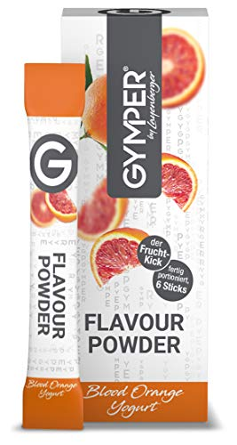 GYMPER by Layenberger Flavour Powder Blood Orange Yoghurt, für unser Pure Whey Powder, im Portionsbeutel, 8 Stück