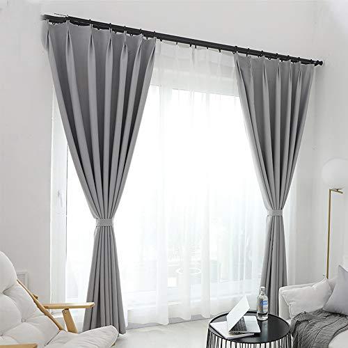 cortinas transparentes gris