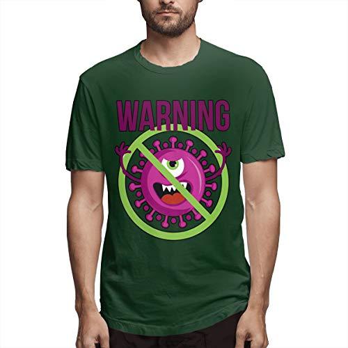 Stop Coronavirus - Camiseta de manga corta para hombre Verde verde (Forest green) L