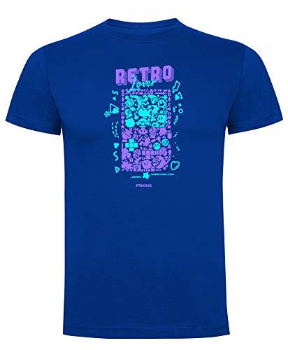 Friking Camiseta Divertida Royal Retro Lover Manga Corta Hombre Regalo Ideal para Gamers