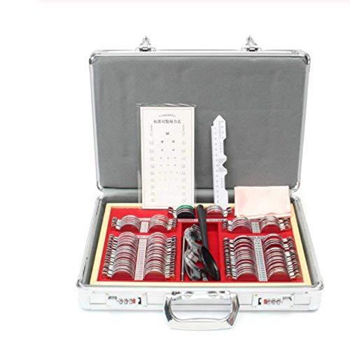 SISHUINIANHUA 104 / 266pcs Probelinse Set mit Meßgläser Testing Trail Rahmen optisches Objektiv Optometry Rim Gehäuse Aluminium Box Metallfelgensatz,104pcs
