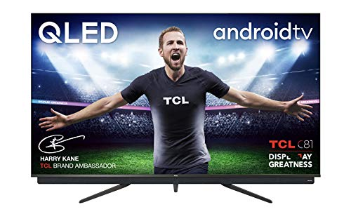 TCL 55C815K 55-inch QLED Television, 4K Ultra HD, Smart Android TV with Freeview Play, Motion Clarity PRO, HDR 10+, Dolby Vision, Hands-Free Voice Control, Works with Google Assistant & Alexa, Metal