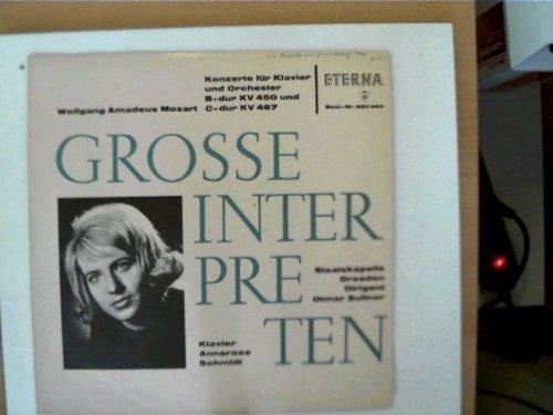 Grosse Interpreten: Mozart - Konzert für Klavier und Orchester B-dur KV 450 und C-dur KV 467, Staatskapelle Dresden, Dirigent: Otmar Suitner, Klavier - Annerose Schmidt,