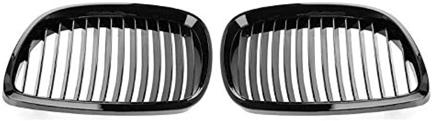 SalaBox-Accessories - 2pcs Gloss Black Front Kidney Grill Grilles for BMW E92 E93 316i 320d 06-10