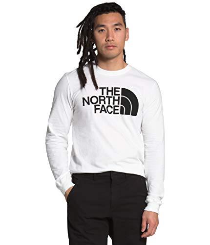 The North Face Men's L/S Half Dome Tee, TNF White, L