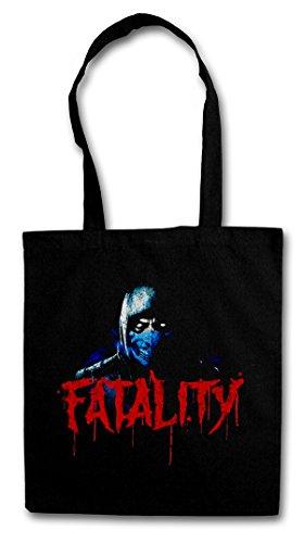 Vintage SUB-Zero Fatality Hipster Shopping Cotton Bag - Scorpion MK Raiden Mortal Kombat Hipster Shopping Cotton Bag