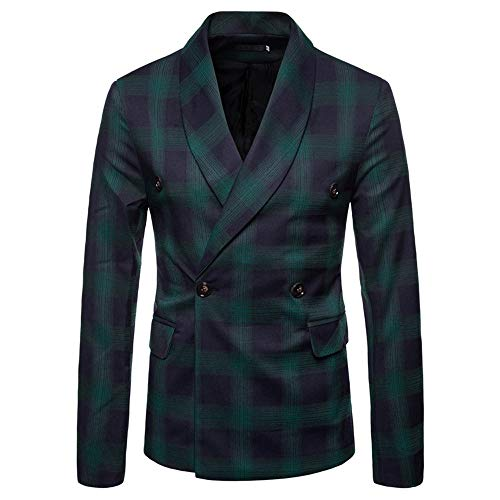 Geili Herren Sakko Blazer Anzug Modern Karo Anzugssakko Slim Fit Langarm Zweireiher Jacke Business Anzug Jacke Basic Jerseysakko Übergangsjacke Herrenjacke Mantel Freizeit Outwear