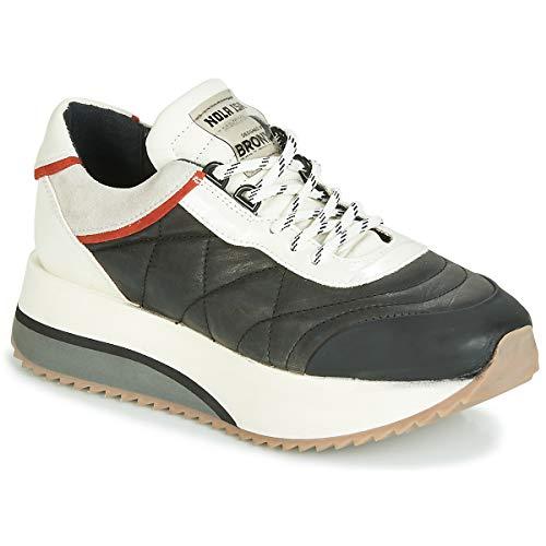 BRONX NOLA ISA Sneakers dames Zwart/Grijs Lage sneakers
