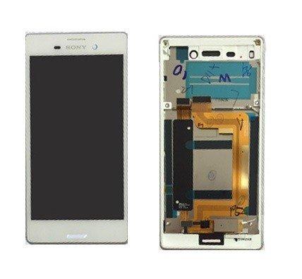 Sony Original Display LCD für Xperia M4Aqua E2303mit Touch Screen und Frame Farbe Weiß