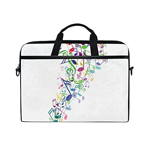 Bolsa Para Portátil Music Note Laptop Hombro Messenger Bag Estuche Funda Con Correa De Hombro Ajustable Para Portátil