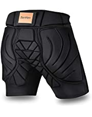 BENKEN Pantalones cortos de protección acolchados, para mujeres y hombres, protección 3D, acolchado en la parte superior, transpirable, resistencia a los impactos para snowboard (XXL)