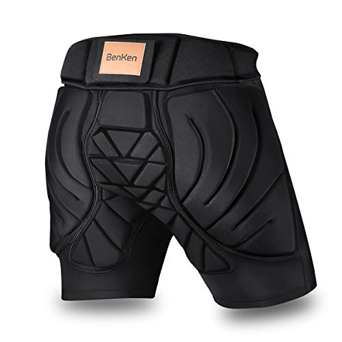 BENKEN Skiing Protective Padded Shorts Hosen Frauen Männer 3D-Schutz Hip Butt Guard Pad Atmungsaktive Schlagfestigkeit für Snowboarden (XXL)