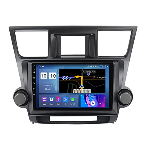 ADMLZQQ Android 10.0 In-Dash Radio Coche Estéreo Automóvil para Toyota Highlander 2007-2013, Pantalla Táctil 9 Pulgadas Carplay Bluetooth FM Am DSP Cámara Trasera Control Volante,M500s 8core 4+64g