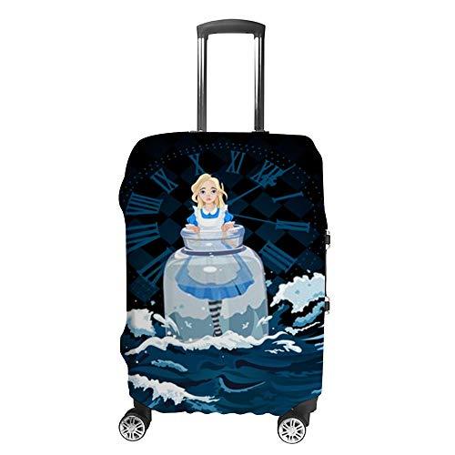 Ruchen - Funda Protectora para Maleta, diseño de Alice Stands in Sea Wave Color Azul