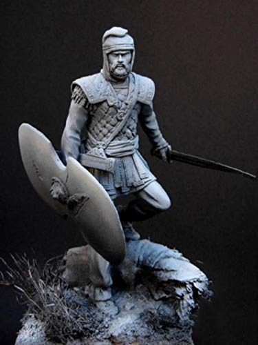 XINGCHANG 1/24 75Mm War Persian Warrior with Base and Sword Toy Resin Model Miniature Resin Figure Unassembly Unpainted