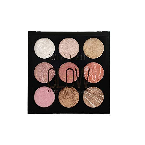Neema Recommends : Swiss Beauty glow Baked Blusher Palette, Face MakeUp, Multi, 24g
