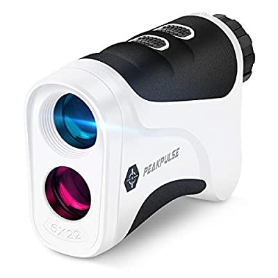 PEAKPULSE 6S Golf Laser Rangefinder with Flag Acquisition with Pulse Vibration Technology and Fast Focus System, Perfect for Choosing The Right Club. 400 Yard Range, 6X Magnification.