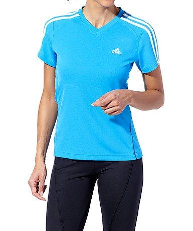 Adidas Lady Response manica corta t-shirt, Donna, Blau, X-Small